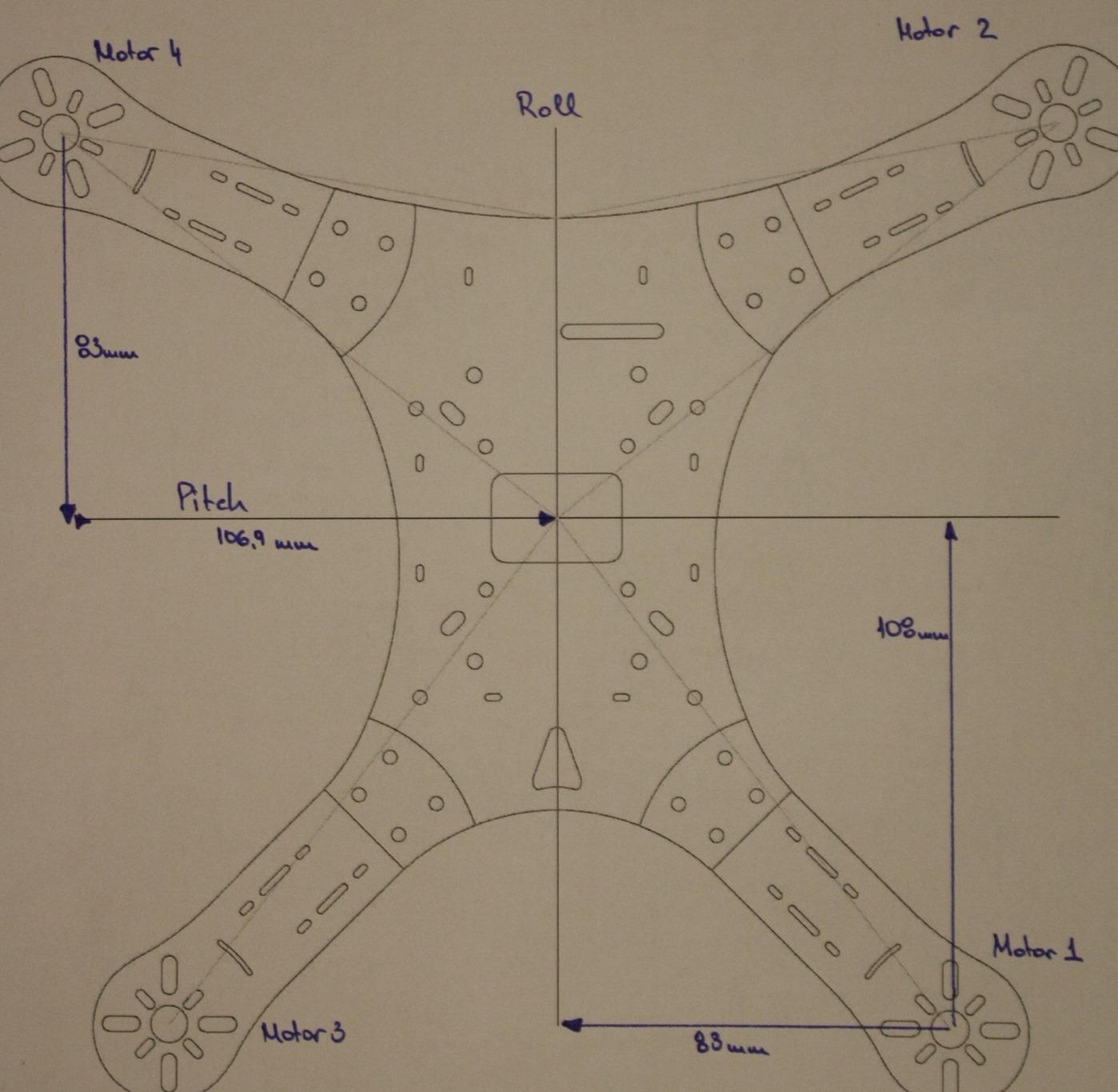 DroneHiTech com – Naze32 custom motor mix for V-Type frame