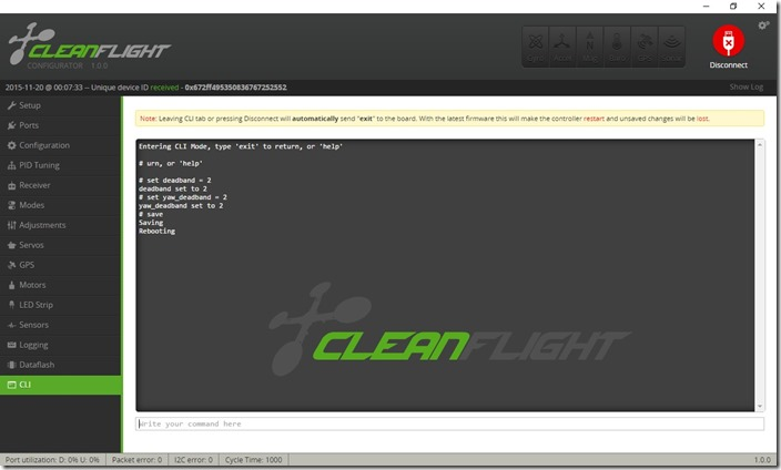 Cleanflight_RX_Deadband